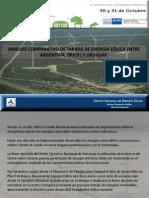 Análisis comparativo de tarifa eólica entre Argentina, Brasil y Uruguay