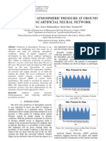 Prediction of Atmospheric Pressure at Ground Level using Artificial Neural Network