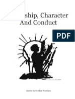 Courtship Character and Conduct