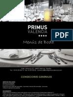 MENU DE BODAS PRIMUS VALENCIA (ES)