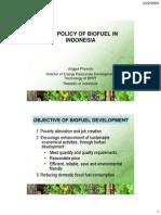 The Policyof Biofuel in Indonesia(Unggul Priyanto)