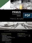 MENU DE GALA PRIMUS VALENCIA (ES)