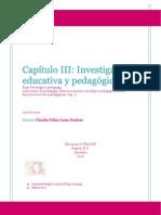 Investigación educativa y pedagógica.