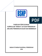 PANDUAN PENYUSUNAN  KTSP-BSNP