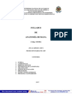 Sylabus de Anatomia Humana