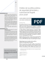 Análisis de la política pública de seguridad alimentaria y nutricional de Bogotá 2004-20081