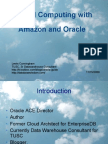 Cloud Computing With AWS and Oracle TUSC 2008