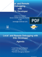 Local and Remote Debugging with SQL Developer