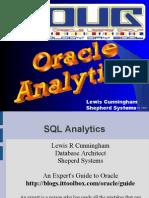 ORacle SQL Analytics
