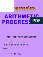 arithmetic progression