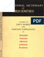 International Dictionary Of Obscenities