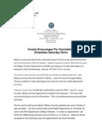 Special Flu Shot Clinic Press Release0110