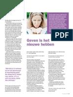 Geven is het nieuwe hebben  - VCV Magazine