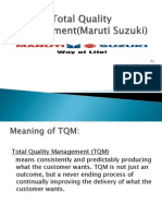 Total Quality Management(Maruti Suzuki)