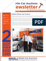 Merlin Car Auctions -  2nd September Newsletter