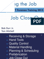 2013 Week 2 Part 2 Bldg the Job + Closeout