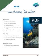 Aquariumworld's free tip sheet