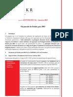 Newsletter Fiscal - Janeiro 2013