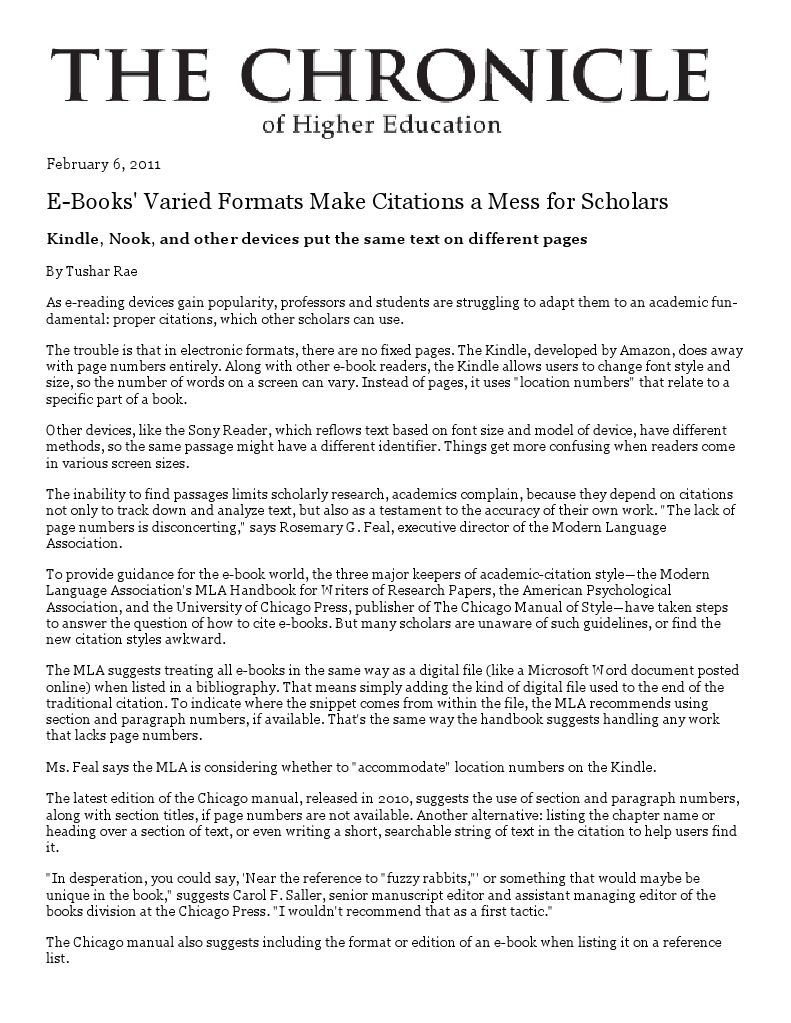 E books varied formats make citations a mess for scholars e books varied formats make citations a mess for scholars citation amazon kindle ccuart Choice Image