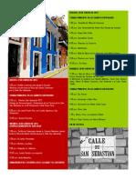Programa de las Fiestas Calle San Sebastián 2013