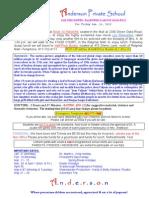 Trip Notice - 13-1-11 - Les Miserables & Half Price Books (Anderson Private School)