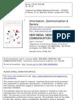New media, mediation and communication study