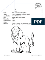 zoo animals fact files