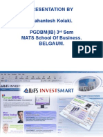 Presentation for IL&FS_Investmart