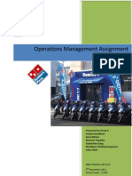 Operation Management in Domino Pizza