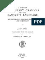 Jan Gonda - A Concise Elementary Grammar of the Sanskrit Language