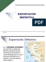 Procedimiento de Exportacion Definitiva