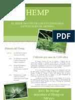 Ficha Técnica productos Be Hemp lr
