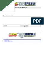 Modelo de relatório de pesquisa
