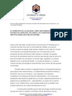 EL PRINCIPIO DE LEGALIDAD COMO VERTEBRADOR DEL ESTADO DE DERECHO