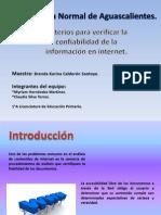 Confiabiliad en la informacion de internet