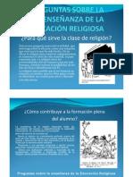 preguntas sobre la enseñanza de la educacion religiosa