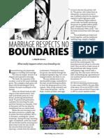 RT Vol. 12, No. 1 Marriage respects no boundaries