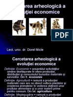 Cercetarea Arheologica a Evolutiei Economice