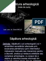 Sapatura arheologica