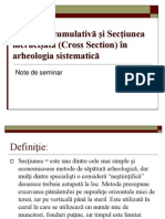 Sectiunea Cumulativa Si Cross Section in Arheologia Sistematica