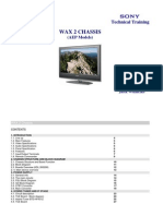 SONY Training Manual Chassis WAX2T