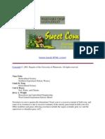 sweet corn management