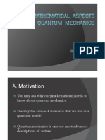 Some Mathematical Aspects of Quantum Mechanics