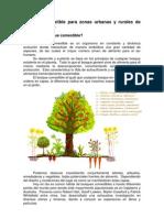 Bosque comestible para zonas urbanas y rurales de clima templado