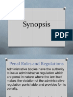 Admin. Law Penal Provi to Effectivity of Admin Rules and regulations