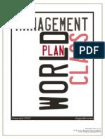 world class management plan  cmd 10 11 12