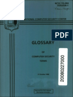 NCSC-TG-004 Glossary of Computer Security Terms (Teal Book)