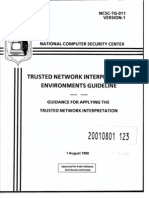 NCSC-TG-011 Trusted Network Interpretation Environments Guideline (Red Book)