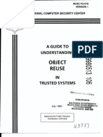 NCSC-TG-018 A Guide to Understanding Object Reuse in Trusted Systems (Light Blue Book)