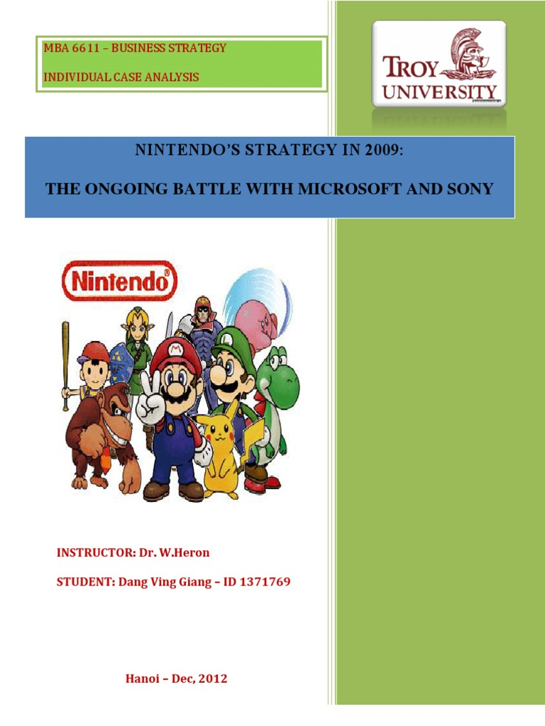 analysis of nintendo Abstract this report shows a forensic analysis of the nintendo wii u console, which aims to determine what data can be extracted to serve as forensic.